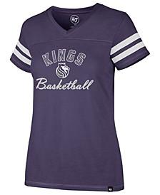 Women's Sacramento Kings Metallic Dinger V-Neck T-Shirt