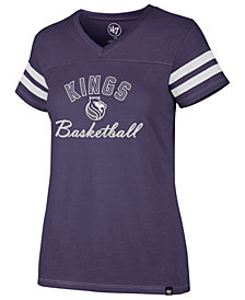 '47 Brand Women's Sacramento Kings Metallic Dinger V-Neck T-Shirt