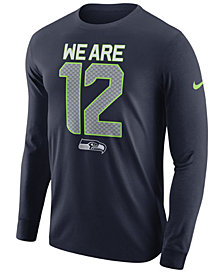 Nike Men's Seattle Seahawks Dri-FIT Cotton Local Long Sleeve T-Shirt