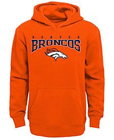 Outerstuff Denver Broncos Fleece Hoodie, Big Boys (8-20)