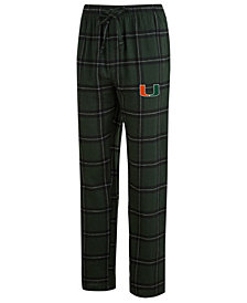 Concepts Sport Men's Miami Hurricanes Homestretch Flannel Pajama Pants