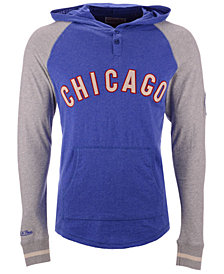 Mitchell & Ness Men's Chicago Cubs Slugfest Lightweight Hooded Long Sleeve T-Shirt