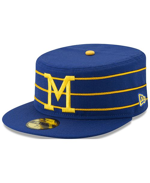 f9732a56048 New Era Milwaukee Brewers Pillbox 59FIFTY-FITTED Cap - Sports Fan ...