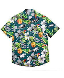 Forever Collectibles Men's Philadelphia Eagles Floral Camp Shirt