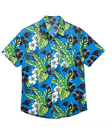 Forever Collectibles Men's Carolina Panthers Floral Camp Shirt