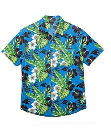 Forever Collectibles Men's Carolina Panthers Floral Camp Shirt