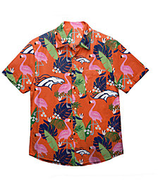 Forever Collectibles Men's Denver Broncos Floral Camp Shirt