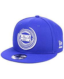 New Era Detroit Pistons Logo Trace 9FIFTY Snapback Cap