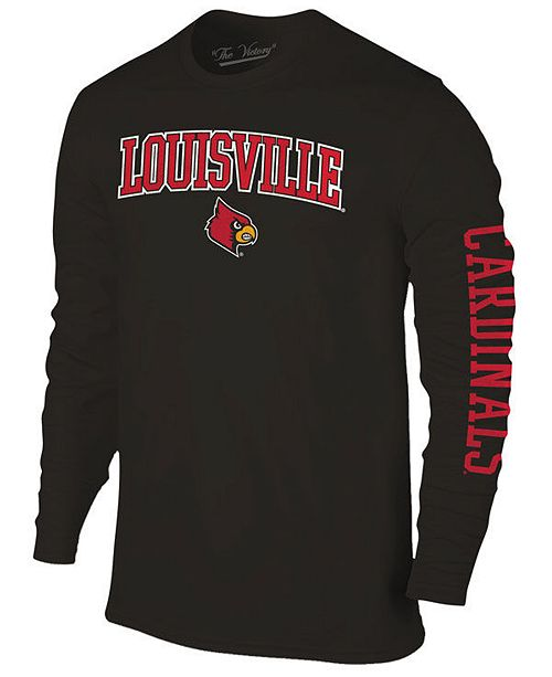 Colosseum Men's Louisville Cardinals Midsize Slogan Long Sleeve T-Shirt
