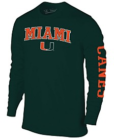 Colosseum Men's Miami Hurricanes Midsize Slogan Long Sleeve T-Shirt