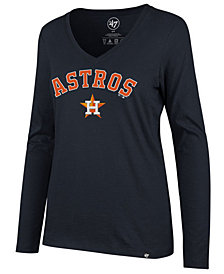 '47 Brand Women's Houston Astros Splitter Long Sleeve T-Shirt