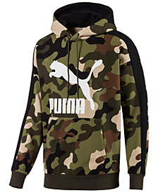 Puma Men's Camo-Print Logo Hoodie