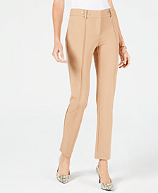 Alfani Ponte Slim Pants, Created for Macy's