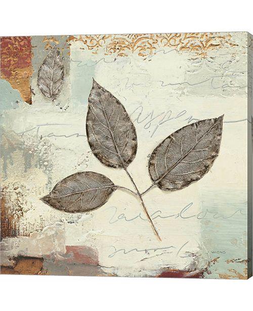Metaverse Silver Leaves II by James Wiens Canvas Art