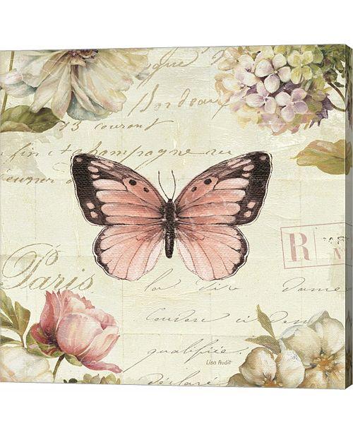 Metaverse Marche De Fleurs Butterfly I by Lisa Audit Canvas Art