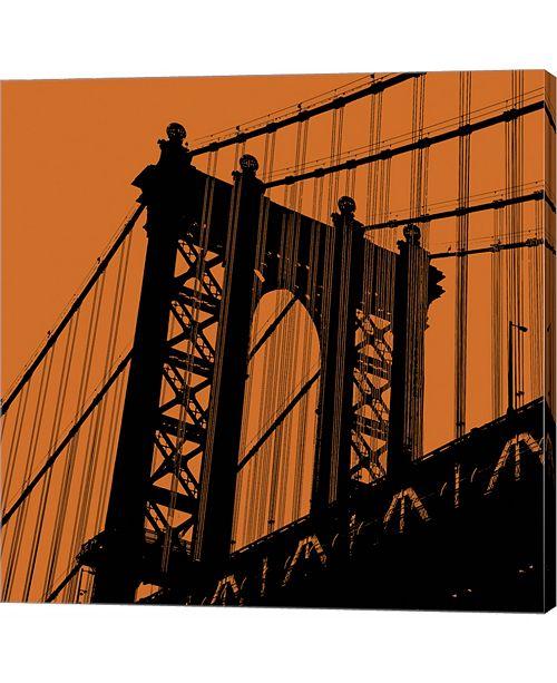 Metaverse Orange Manhattan by Erin Clark Canvas Art
