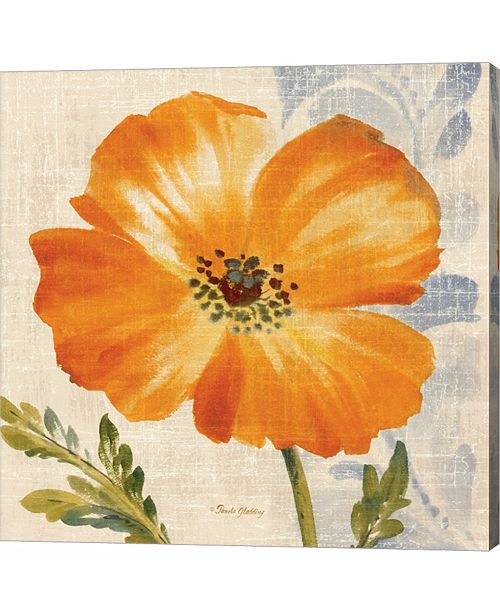 Metaverse Watercolor Poppies Iii, Orange by Pamela Gladding Canvas Art
