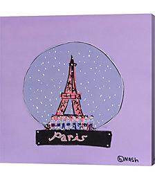 Paris Snowglobe by Brian Nash Canvas Art
