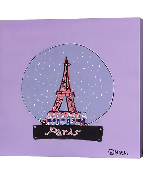 Metaverse Paris Snowglobe by Brian Nash Canvas Art