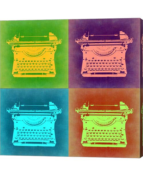 Metaverse Vintage Typewriter Pop Art 1 by Naxart Canvas Art