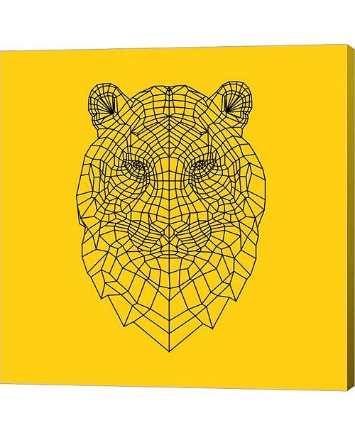 Metaverse Tiger Head Yellow Mesh by Lisa Kroll Canvas Art