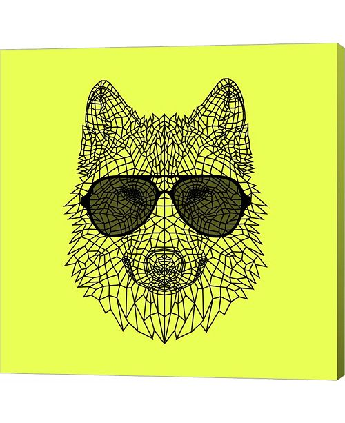 Metaverse Woolf in Black Glasses by Lisa Kroll Canvas Art
