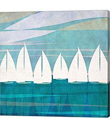 Afternoon Regatta I by Dan Meneely Canvas Art