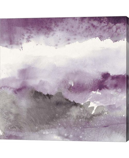 Metaverse Midnight At The Lake III Amethyst and Grey by Mike Schick Canvas Art