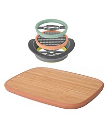 Leo Collection All-In-One Slicer Set & Large Cutting Board