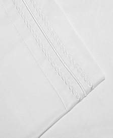 Superior Embroidered Soft, Light Weight, Microfiber, Queen Size 4-Piece Sheet Set, Solid White