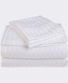 Superior Prestige 1500 Series Stripe Sheet Set - Twin XL - White
