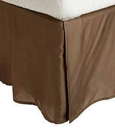 Superior 300 Thread Count Egyptian Cotton Solid Bed Skirt - Queen