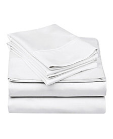 Superior 600 Thread Count Cotton Rich Solid Sheet Set - Split King - White
