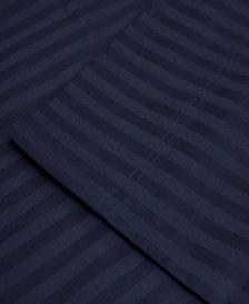 Superior 650 Thread Count Egyptian Cotton Stripe Duvet Set - King/California King - White