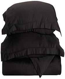 Superior 300 Thread Count Egyptian Cotton Solid Duvet Set - King/California King - White