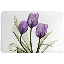 Purple Tulip Memory Foam Rug