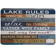 Lake Rules Memory Foam Rug