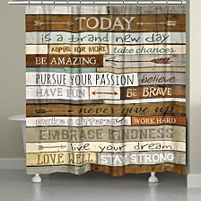 Laural Home Inspiring Mantra Bath Accessory Collection