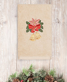 CLOSEOUT!  Linum Home Christmas Bells 100% Turkish Cotton Hand Towel