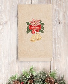 CLOSEOUT! Linum Home Christmas Bells 100% Turkish Cotton Hand Towels