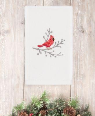 CLOSEOUT!  Christmas Cardinal 100% Turkish Cotton Hand Towel