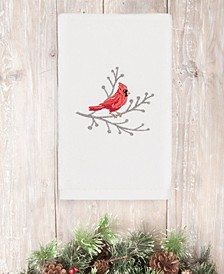 Christmas Cardinal 100% Turkish Cotton Hand Towel