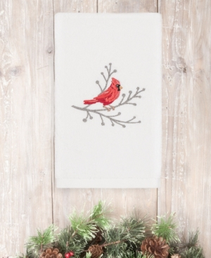 Image of Closeout! Linum Home Christmas Cardinal 100% Turkish Cotton Hand Towel Bedding
