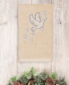 CLOSEOUT! Linum Home Christmas Dove 100% Turkish Cotton Hand Towels