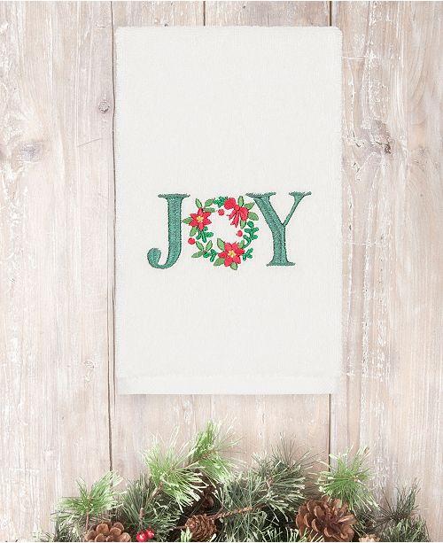Linum Home  Christmas Joy 100% Turkish Cotton Hand Towel