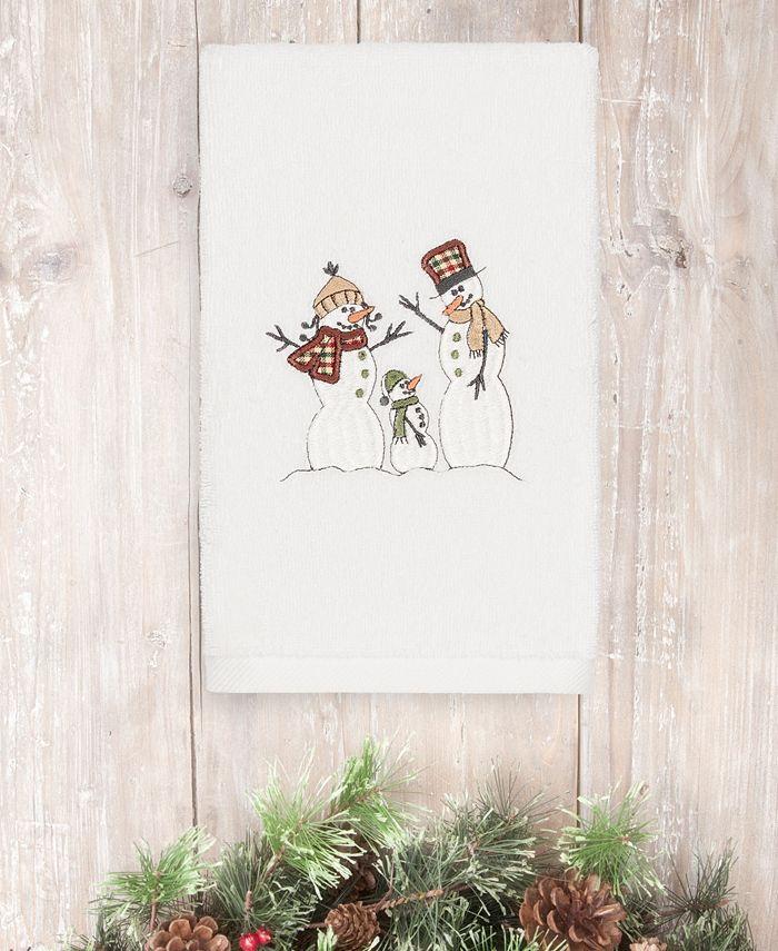 Linum Home - Christmas Snow Family 100% Turkish Cotton Hand Towel