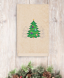 CLOSEOUT!  Linum Home Christmas Three Trees 100% Turkish Cotton Hand Towel