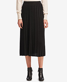 DKNY Pleated Pull-On Midi Skirt, Created for Macy's