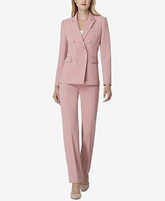 Tahari Asl Peak Lapel Pant Suit Wear To Work Women Macy S
