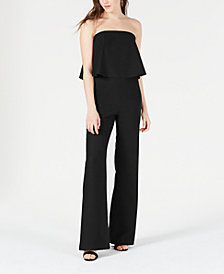 Lola Grace Juniors' Strapless Popover Jumpsuit